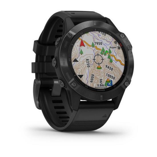 Часы Garmin FENIX 6 черные с черным ремешком (010-02158-02)