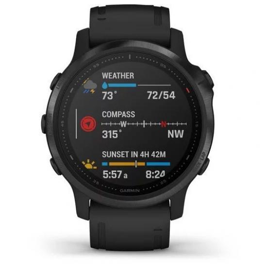 Часы Garmin FENIX 6S Pro черные с черным ремешком (010-02159-14)