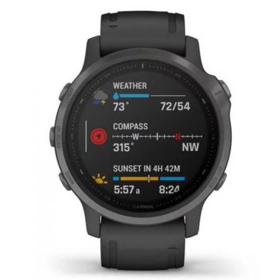 Часы Garmin FENIX 6S Sapphire серые DLC с черным ремешком (010-02159-25)