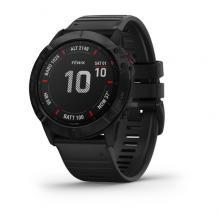 Часы Garmin FENIX 6X Pro черные с черным ремешком (010-02157-01)