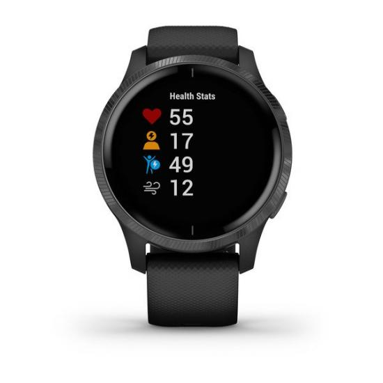 Умные часы Garmin VENU черные с серым безелем (010-02173-13)