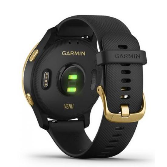 Умные часы Garmin VENU черные с золотистым безелем (010-02173-33)