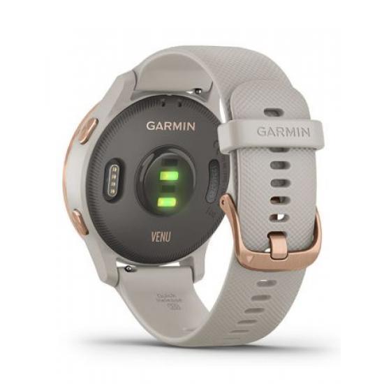 Умные часы Garmin VENU песочного цвета с золотистым безелем (010-02173-23)