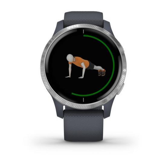 Умные часы Garmin VENU синий гранит с серебристым безелем (010-02173-03)