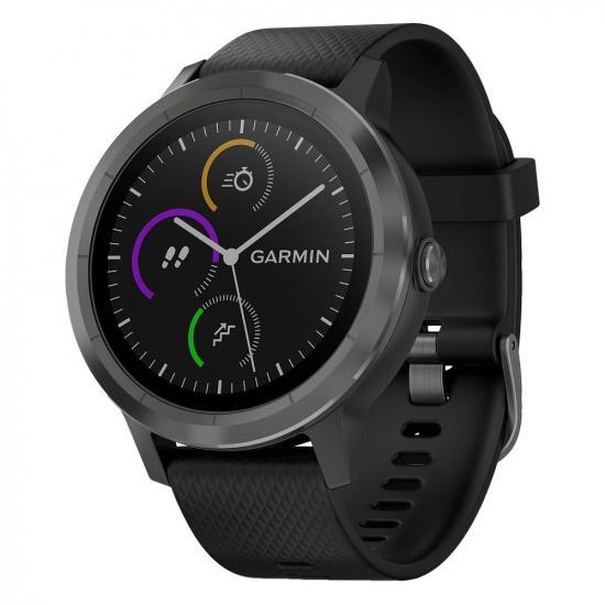 Часы Garmin VIVOACTIVE 4 черные с серым безелем (010-02174-13)
