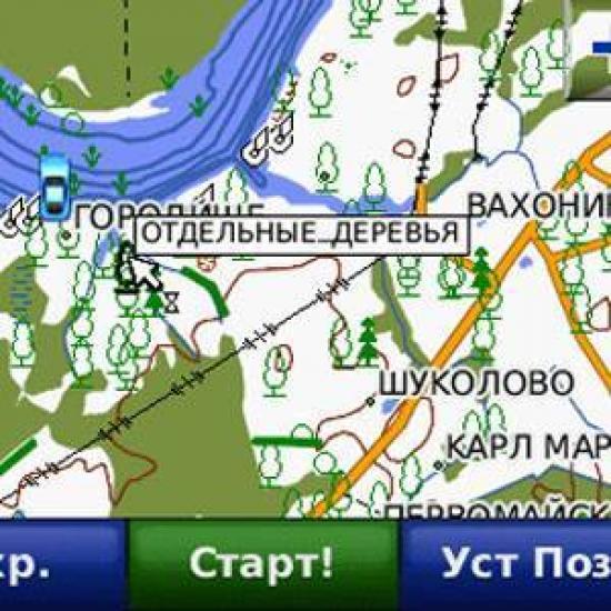Карта Дороги России. РФ. ТОПО.