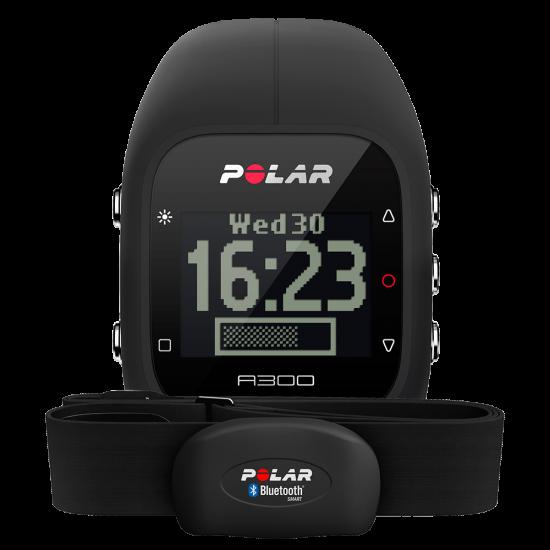Спортивные часы POLAR A300 HR черн, белый, роз