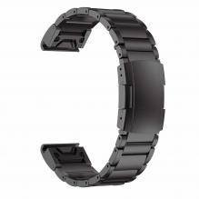 Стальной ремешок для часов Fenix 3, 5X, 5X Plus, 6X, 6X Pro Solar (ОЕМ) 26мм (Черный, металл)