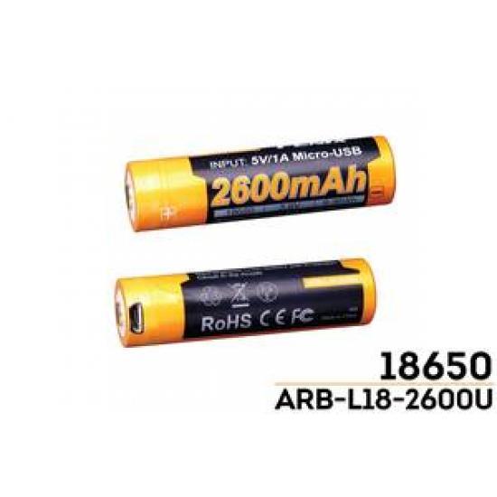Аккумулятор Li-ion Fenix ARB-L18-2600U 18650