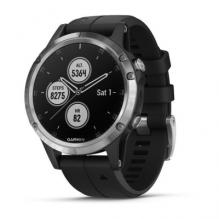 Часы Garmin Fenix 5 Plus Glass Silver/Black(010-01988-17)