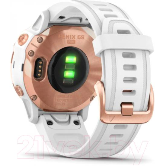 Часы GARMIN Fenix 6S Pro Розовое золото, белый ремешок (010-02159-11)