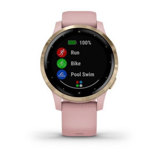 Часы Garmin Vivoactive 4S розовые с золотистым безелем (010-02172-33)