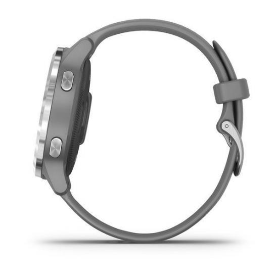 Часы Garmin Vivoactive 4S серые с серебристым безелем (010-02172-03)