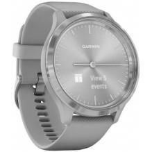 Часы Garmin Vivomove 3 серебристые с серым силиконовым ремешком (010-02239-20)