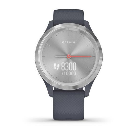 Часы Garmin Vivomove 3S серебристый циферблат с гранитно-синим ремешком (010-02238-20)