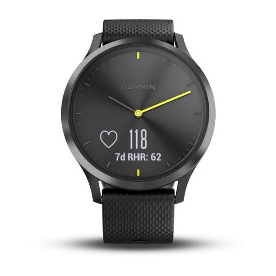Часы Garmin Vivomove HR черные с черным ремешком (010-01850-21)