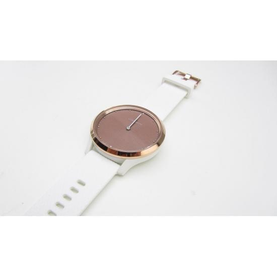 Часы Garmin VIVOMOVE HR розовое золото с белым ремешком  (010-01850-22)