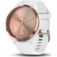 Часы Garmin VIVOMOVE HR E EU SPORT ROSE GOLD-WHITE (010-01850-22)