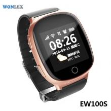 Детские GPS часы-телефон Wonlex EW100S Розовое золото