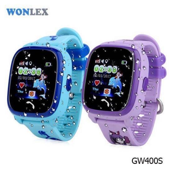 Wonlex Smart Baby Watch GW400S Фиолетовые
