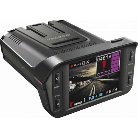 Видеорегистратор с радар-детектором 3 в 1 INSPECTOR HOOK Full HD GPS