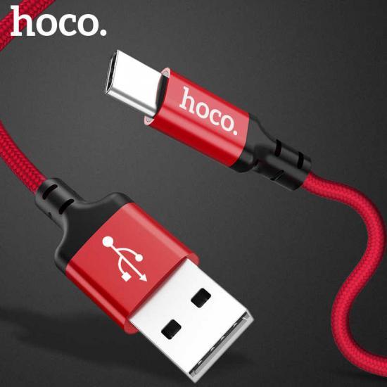 Кабель USB 2.0 (M) Iphone (8Pin) HOCO X14 (2.0A) Times speed (1M) красный