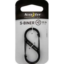 Карабин S-biner #2 стальной серебристый