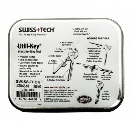 Карманный мультиинструмент Utili-Key 6 подарочный