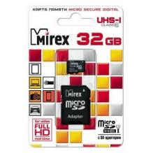 Карта памяти SD\microSD 32Gb Mirex UHS-I