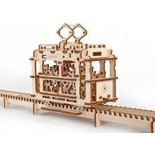 Трамвай с рельсами (Конструктор 3D пазл UGEARS)