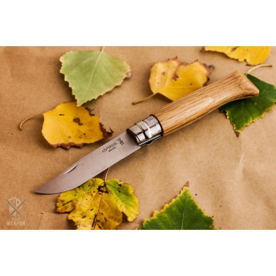 Нож Opinel №6 нержавеющая сталь, дубовая рукоять в картонной коробке
