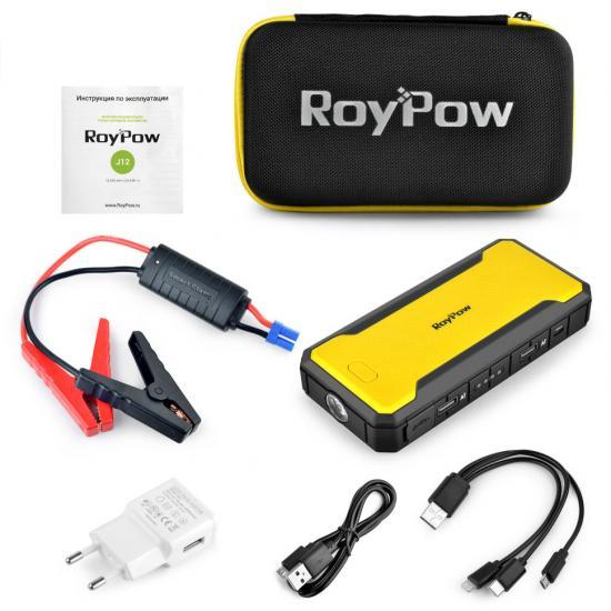 Пуско-зарядное устройство RoyPow J12 (12000mAh) 66.6 Вт-ч 600А