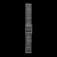 Облегченный ПРЕМИУМ ремешок для часов Fenix 5, 5 Plus, 6, 6 Pro (ОЕМ) 22мм (черный, металл)