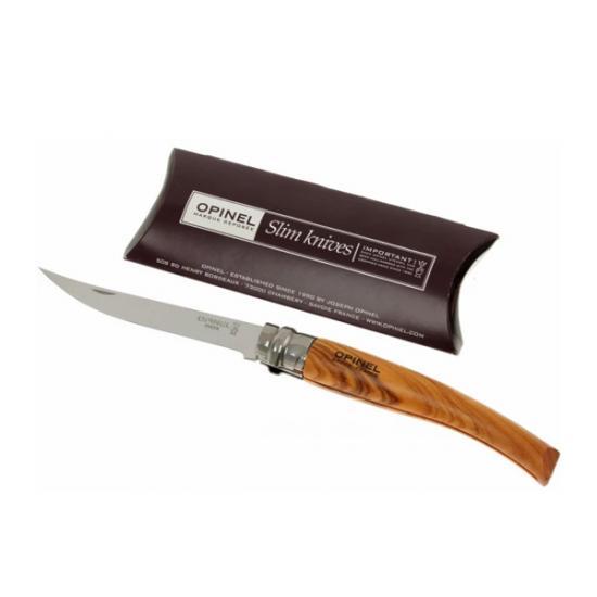 Нож филейный Opinel №10 (нержавеющая сталь, рукоять из оливкового дерева)