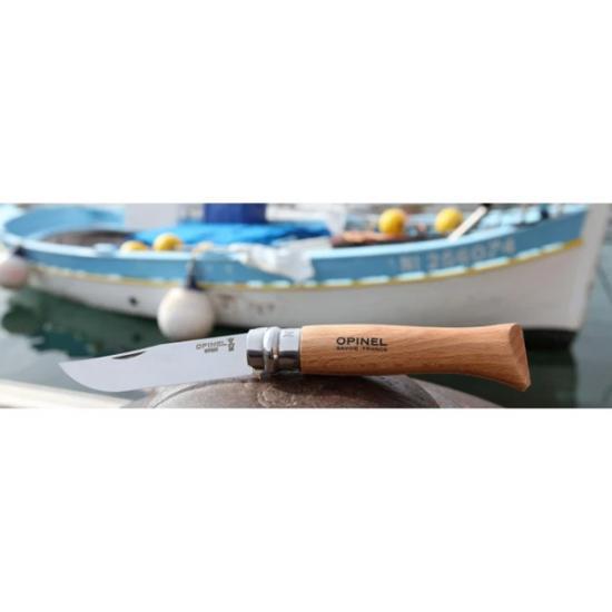 Нож Opinel №8 (нержавеющая сталь, рукоять бук)