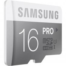 Карта памяти Samsung Pro MicroSDHC Class 10 16 ГБ + SD адаптер