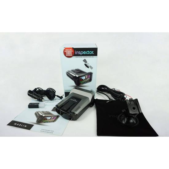 Видеорегистратор с радар-детектором INSPECTOR MARLIN Full HD GPS A7 (3 в 1)