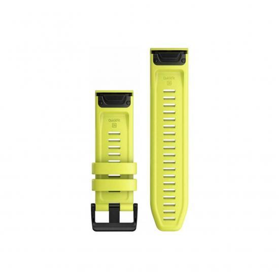 Ремешок сменный QuickFit (5/5 plus/6)22 мм (силикон) Желтый (OEM)