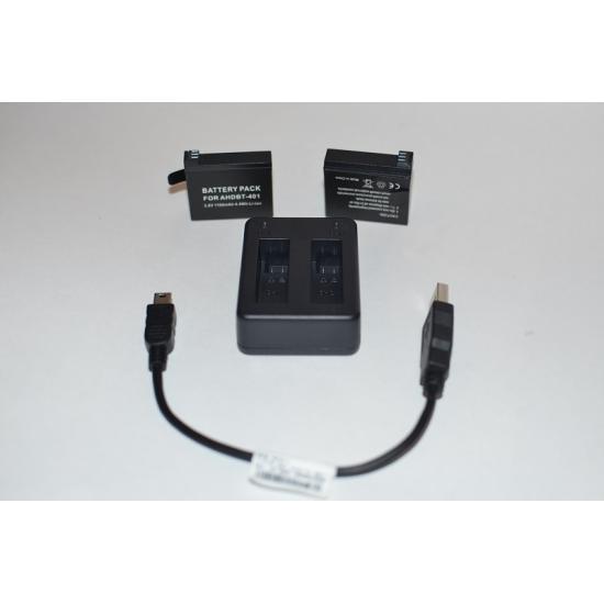 Устройство зарядное ZEBRA USB на 2 аккумулятора (HERO4)